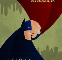 Cartel alternativo de Batman vs Superman. A Illustration, and Graphic Design project by Héctor Núñez Gómez         - 10.11.2015