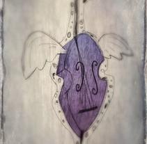 Violonchelo. Un proyecto de Ilustración de Chencho Jiménez         - 18.11.2015