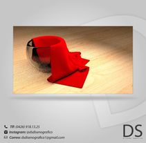 """3D: """"Cloth"""". A Design, 3D, and Graphic Design project by David Sánchez         - 11.04.2015"""