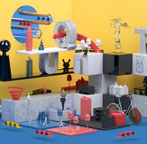 Mi Proyecto del curso Dirección de Arte con Cinema 4D . Un proyecto de 3D, Dirección de arte, Diseño gráfico y Escenografía de Gustavo Castellanos - 30-11-2015