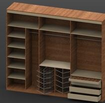 Armario y frentes. Un proyecto de Diseño, 3D, Diseño de muebles, Arquitectura interior y Diseño de interiores de Rodrigo Paredes Martín - Ambrosio - 03-12-2015