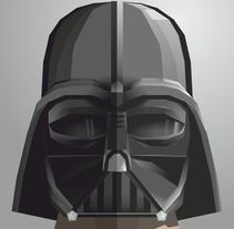 Star Wars Helmet. A Comic, Design, Character Design, Graphic Design&Illustration project by Alejandro Mazuelas Kamiruaga - Dec 18 2015 12:00 AM