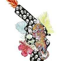Diseño de camiseta El dios de los tres. Um projeto de Design e Ilustração de Javier  Navarro Romero         - 22.12.2015