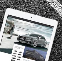 Audi Website Redesign UI/UX. Un proyecto de Diseño, UI / UX, Dirección de arte, Diseño gráfico y Diseño Web de Jesús Blázquez Furtado - 28-12-2015