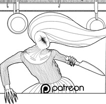 KITCHEN - Short Horror comic. Um projeto de Ilustração, Arquitetura, Design de personagens, Arquitetura de interiores, Design de interiores e História em quadrinhos de Claudio Zaldivar Araujo - 02-02-2017