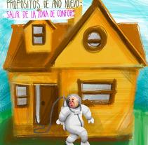 Serie: Propósitos de año nuevo. A Illustration, and Graphic Design project by Jesús MR         - 05.01.2016