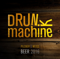 Drunk Machine | Beer 2016. A Design, Illustration, Art Direction, Graphic Design, Packaging, and Product Design project by Thanos Papageorgiou         - 06.01.2016