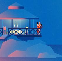Aventuras romanticas!. Un proyecto de Diseño, Ilustración, Moda, Bellas Artes y Diseño gráfico de Vlad Gusev         - 30.11.2015