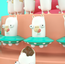 Llama -Zoetrope. A 3D, Animation, Art Direction, Motion Graphics, Post-Production, and Video project by Andreé Chujutally Mejía - Jan 08 2016 12:00 AM