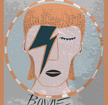 HOMENAJE A BOWIE. A Illustration project by cristina peris grau         - 10.01.2016
