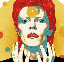 Yorokobu // Rock´n´Draw / David Bowie y las estrellas. A Illustration, Music, and Audio project by Oscar Giménez - 01.12.2016