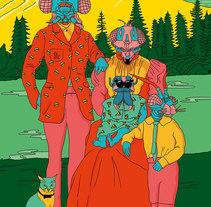 Flyers Siroco 2015. Un proyecto de Ilustración, Dirección de arte y Diseño de personajes de Miriam Muñoz         - 30.11.2015