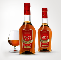 envase de cognac Aist. A Product Design project by Iraida Kovaleva - 25-01-2016