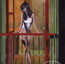 La mujer en la ventana. A Illustration project by Fernando Garrido Rubio         - 07.02.2016
