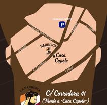 Diseño de flyer barbería. Um projeto de Publicidade e Design gráfico de Javier López         - 14.10.2015