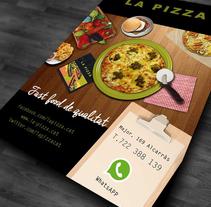 Diseño para la campaña de publicidad de  LA PIZZA. Un proyecto de Diseño gráfico de neus escarp - 19-08-2015