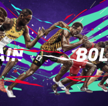 Usain Bolt. A Illustration, Art Direction, Editorial Design, and Graphic Design project by Adolfo Correa - 22-02-2016