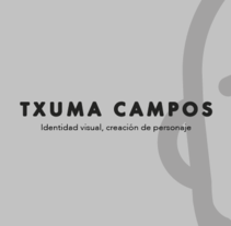 Brand Txuma Campos. A Br, ing, Identit, Character Design, and Graphic Design project by rafa san emeterio  - Feb 01 2016 12:00 AM