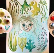 Alga Girl. Un proyecto de Ilustración y Diseño de producto de Sandra Uve  - 01-03-2016