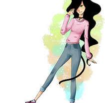 "diseño de personajes ""nocturna"". A Character Design, and Comic project by mariela yazmin hernandez libreros         - 06.03.2016"