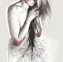 And then her soul withered. Un proyecto de Ilustración y Bellas Artes de Mentiradeloro Esther Cuesta - 07-03-2016