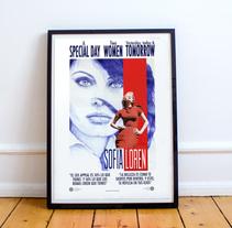 Sofia Loren. A Illustration, and Fine Art project by Carlos Rodríguez Pasquel         - 08.03.2016