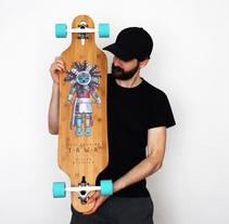 """Kachina"", ilustraciones para colección de long-board (Miller Division). A Illustration project by Pablo Burgueño López - 14-11-2015"