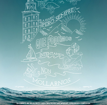 AGUAS DE GALICIA. A Illustration, Advertising, Art Direction, and Graphic Design project by Luis Aliff         - 30.06.2015