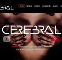Web Cerebral Band. A Web Design project by Álvaro Cordero Herrera - Mar 10 2016 12:00 AM