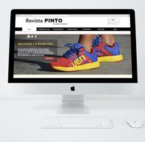 Pagina web para la revista Pinto. Um projeto de Design, Ilustração, Publicidade e Web design de Yanel Pinto         - 12.03.2016