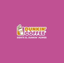 Flyer Celébralo con Dunkin. . Um projeto de Direção de arte e Design gráfico de Belén de Castro Resina         - 15.12.2015