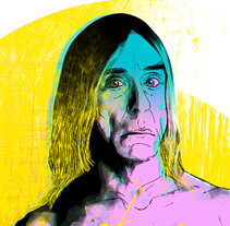 Yorokobu // Rock´n´Draw / El superviviente Iggy Pop. A Illustration, Music, and Audio project by Oscar Giménez - 13-03-2016