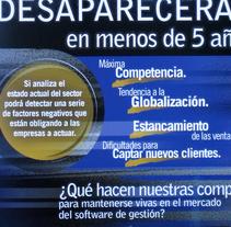 Díptico captación clientes. Empresa Inology.. Um projeto de Design editorial de José Manuel  Montesinos Pineda - 15-03-2016