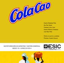 Maquetación presentación ColaCao - ESIC. Un proyecto de Diseño gráfico de Elena  Ojeda Esteve - 27-04-2014