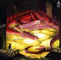 """Ilustración """"El Hobbit"""". Um projeto de Ilustração de Álvaro Muñoz Buendía         - 06.03.2015"""