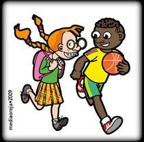 Cubiertas Agenda Escolar Alcobendas. Un proyecto de Ilustración, Diseño editorial y Educación de Manu Díez         - 25.03.2016