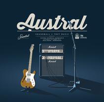 Austral technical soundcheck. A Illustration, and Graphic Design project by Carlos González Puchernau         - 28.03.2016