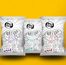 Lays Natura. Un proyecto de Diseño, Ilustración, Dirección de arte, Diseño gráfico, Packaging y Tipografía de Mario Merino  - 01-04-2016