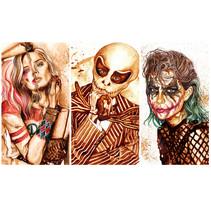 """""""Halloween time"""" - Ilustraciones con café y acuarelas. Un proyecto de Diseño, Ilustración, Artesanía, Diseño editorial, Bellas Artes, Pintura y Comic de Nuriamarq (Nuria Salcedo)         - 07.04.2016"""