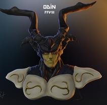 Mi Proyecto del curso: Odín de FFVIII. A Character Design project by Javier Fandiño Casas         - 10.04.2016