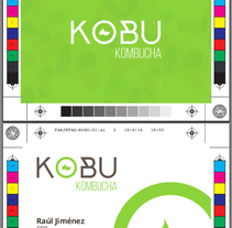 KOBU Kombucha. A Design, Graphic Design, Cop, and writing project by Miguel Jiménez García         - 17.04.2016