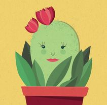 Be Cactus. A Illustration, and Graphic Design project by Mari  Fernandez - 19-04-2016