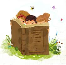 Primavera das Letras. R.A.G (Real Academia Galega). Un proyecto de Ilustración de Laura Cortés         - 24.04.2016