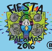 Fiesta de los Palomos 2016. A Design, Illustration, Graphic Design, and Screen-printing project by Pablo Fernandez Diez         - 29.04.2016