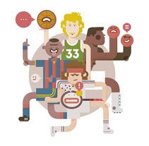 ICON Sport Mgz. El País. Un proyecto de Ilustración, Diseño de personajes y Diseño editorial de Del Hambre  - 30-04-2016