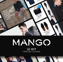 MANGO - UI KIT redesign concept. Um projeto de UI / UX, Arquitetura da informação, Design interativo, Web design e Desenvolvimento Web de Belén del Olmo Gil         - 07.05.2016