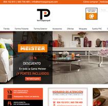 Tienda Online de Tarimas y Parquet. Un proyecto de Publicidad, Motion Graphics, Dirección de arte, Diseño gráfico, Marketing, Diseño Web, Desarrollo Web, Vídeo y Social Media de Chelo Fernández Díaz - Domingo, 04 de octubre de 2015 00:00:00 +0200