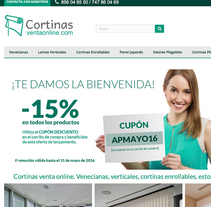 Tienda Online de Cortinas. A Advertising, Art Direction, Br, ing, Identit, Graphic Design, Information Architecture, Marketing, Web Design, Web Development, Cop, writing, and Social Media project by Chelo Fernández Díaz - 03-05-2016
