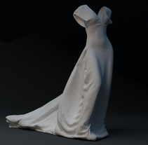 WHITE NIGHT DRESS· Proyecto Visual 3D. A 3D, Animation, and Fashion project by Diego  García Carpintero - 24-05-2016