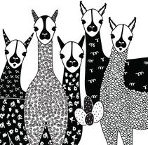 Llama & Cactus - Estampa. Un proyecto de Diseño gráfico e Ilustración de Aldana Carrasco - Sábado, 04 de junio de 2016 00:00:00 +0200